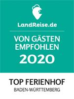 Unterhöfenhof wurde zum TOP Ferienhof in Baden-Württemberg gewählt
